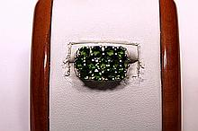 Unusual Chrome Diopside Ring