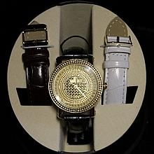 Men's Very Fancy Ice Maxx Watch with exchangable Leather Strap. (457J)