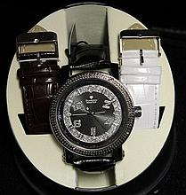 Men's Very Fancy Ice Maxx Watch with exchangable Leather Strap. (458J)