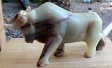 Onyx Bull Sculpture by Gabino(N)