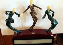 Three Dancers - Bronze and Ivory Sculpture by Phillipe
