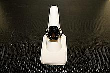 Lady's Beautifull 18 kt White Gold over Sterling Silver Diamond Ring.JA2400
