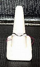 Lady's Beautifull 18 kt White Gold over Sterling Silver Diamond Ring. JA2426