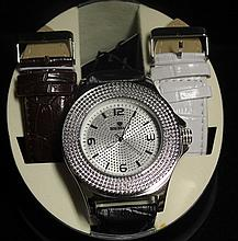 Men's Very Fancy Ice Maxx Watch with Exchangable Leather Strap. (412J)