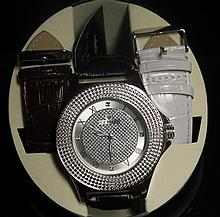 Men's Very Fancy Ice Maxx Watch with Exchangable Leather Strap. (416J)
