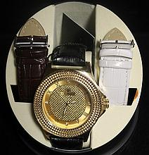 Men's Very Fancy Ice Maxx Watch with Exchangable Leather Strap. (426J)