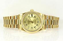 Rolex Datejust Diamond 18ct Gold Watch 68278G