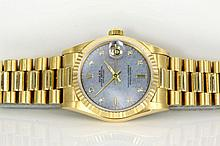 Rolex 18ct Yellow Gold & Diamond Watch 68278NG