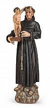 ITALIENISCHE SCHULE 18./19. JH., , Hl. Antonius mit dem Christusknaben