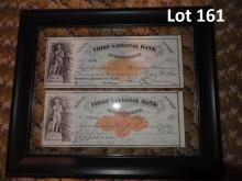 Checks from 1870s