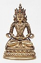 A gilt bronze figure of Amitayus