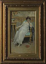 A painting attributed to Luigi Rosati