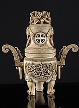 An ivory tripod China, Republic period