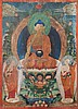 A Thangka depicting Buddha Tibet, 18th-19th Century
