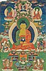 Thangka portraying Buddha Amitabha China/Tibet, 18th-19th Century