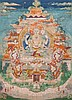 A Thangka depiciting Avalokitesvara Sino/Tibet, 18th Century