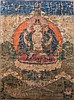 A Thangka depicting Avalokitesvara China/Tibet, 18th Century