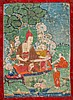 A Thangka depicting a teacher China/Tibet, 19th Century