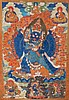 A Thangka depicting Vajrabhairava TIbet, 18th-19th Century