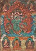 A Thangka depicting a wrathful deity Tibet, 19th Century