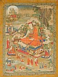 Thangka portraying a scholar