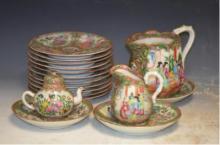 Seventeen Antique Chinese Export Canton Porcelain