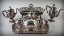 Group of Silver Plated Coffee & Tea Sets