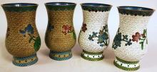 TWO PAIR OF CHINESE CLOISONNE VASES