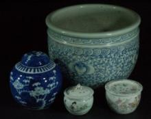 Lot of Chinese Planters & Containers