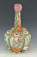Antique Chinese Famille Rose Porcelain Bottle Vase