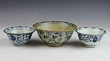 3 Chinese Porcelain Bowls