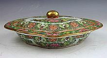 Chinese Export Porcelain Bowl w. Cover