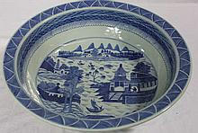 Chinese Canton Style Porcelain Centerpiece Bowl