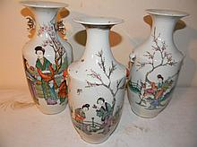 Three Old Chinese Porcelain Vases