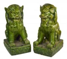 Pair of Green Foo Lions