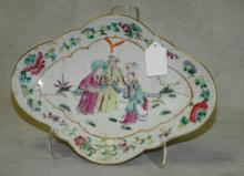 19th c Chinese porcelain footed plate