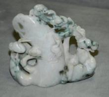 Chinese jade figural group