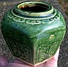 Antique Chinese Ginger Jar Small Pottery Jar Pot Old Collection
