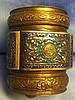 ANTIQUE CHINESE BRASS ENAMEL INCENSE OPIUM SNUFF CLOISONNE ART COVERED BOX