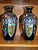 Good pair of early Chinese cloisonne vases
