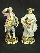 PAIR OF LATE 19TH CENTURY MEISSEN PORCELAIN