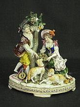 GERMAN SITZENDORF PORCELAIN 18TH CENTURY STYLE