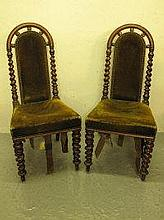 A PAIR OF VICTORIAN ROSEWOOD AND SIMULATED