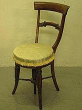 WILLIAM IV ROSEWOOD ADJUSTABLE MUSIC CHAIR, having
