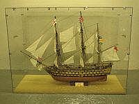 A WELL CONSTRUCTED AND RIGGED KIT BUILT MODEL OF