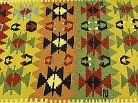 20TH CENTURY GEOMETRIC BRIGHTLY COLOURED KELIM,