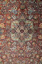EARLY 20TH CENTURY PERSIAN KASHAN RED GROUND
