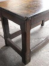 18TH CENTURY OAK REFECTORY TYPE TABLE, having