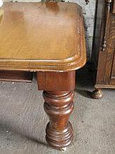 LARGE VICTORIAN MAHOGANY WIND OUT EXTENDING DINING