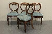 SET OF EIGHT VICTORIAN STYLE CROWN BACKED MAHOGANY
